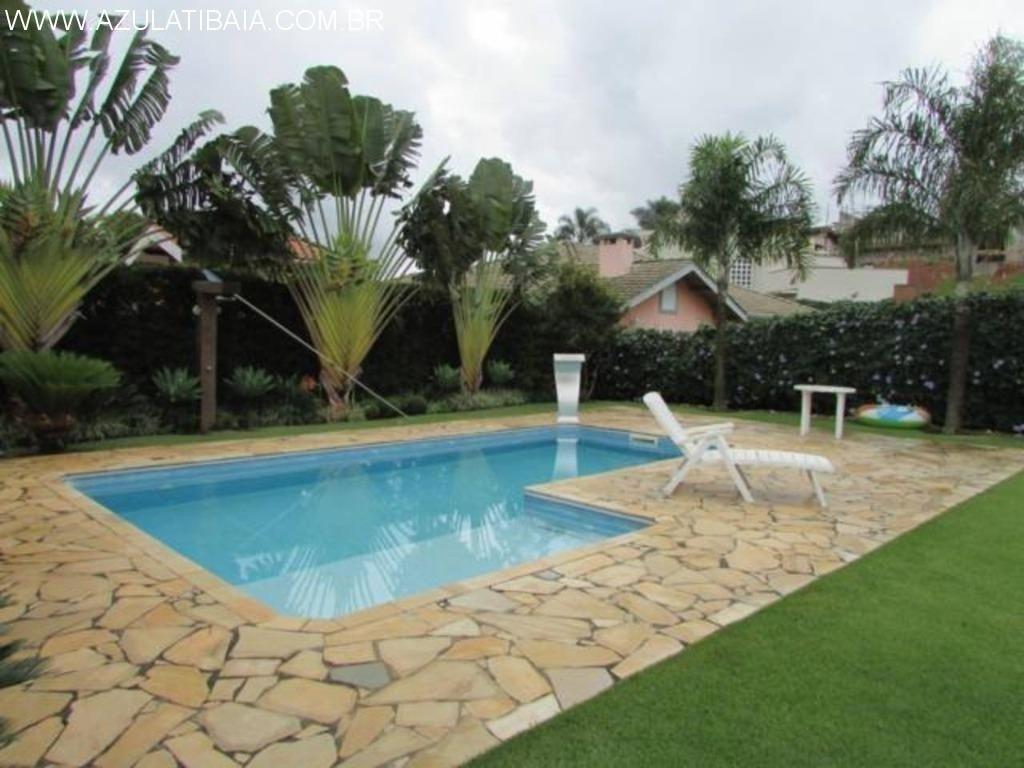 linda casa a venda em atibaia, condomínio fechado com 3 dormitórios, área de lazer... - ca00599 - 34480491
