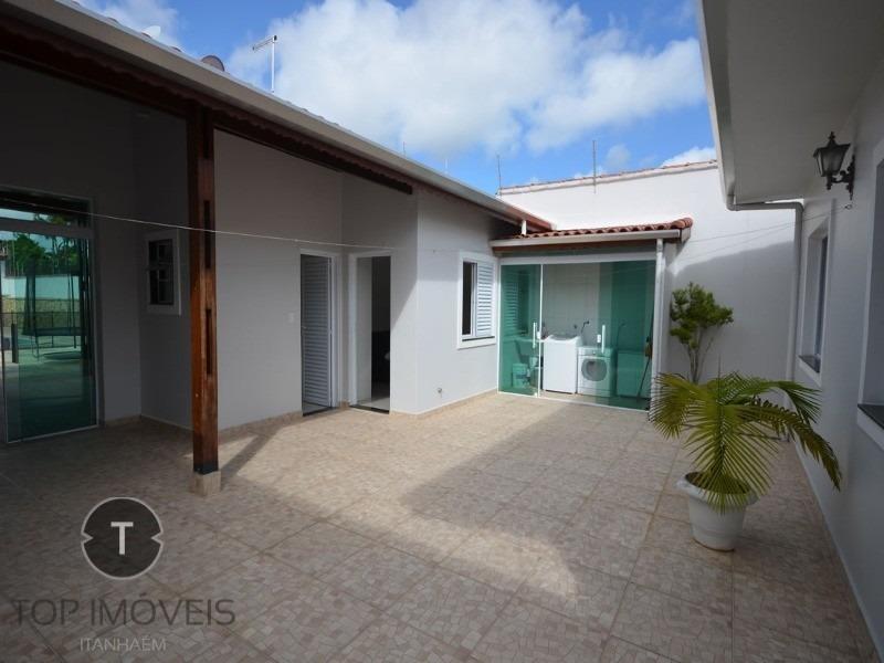linda casa com piscina 4 dormitórios a 200 metros da praia do cibratel i - ca00223 - 33869730