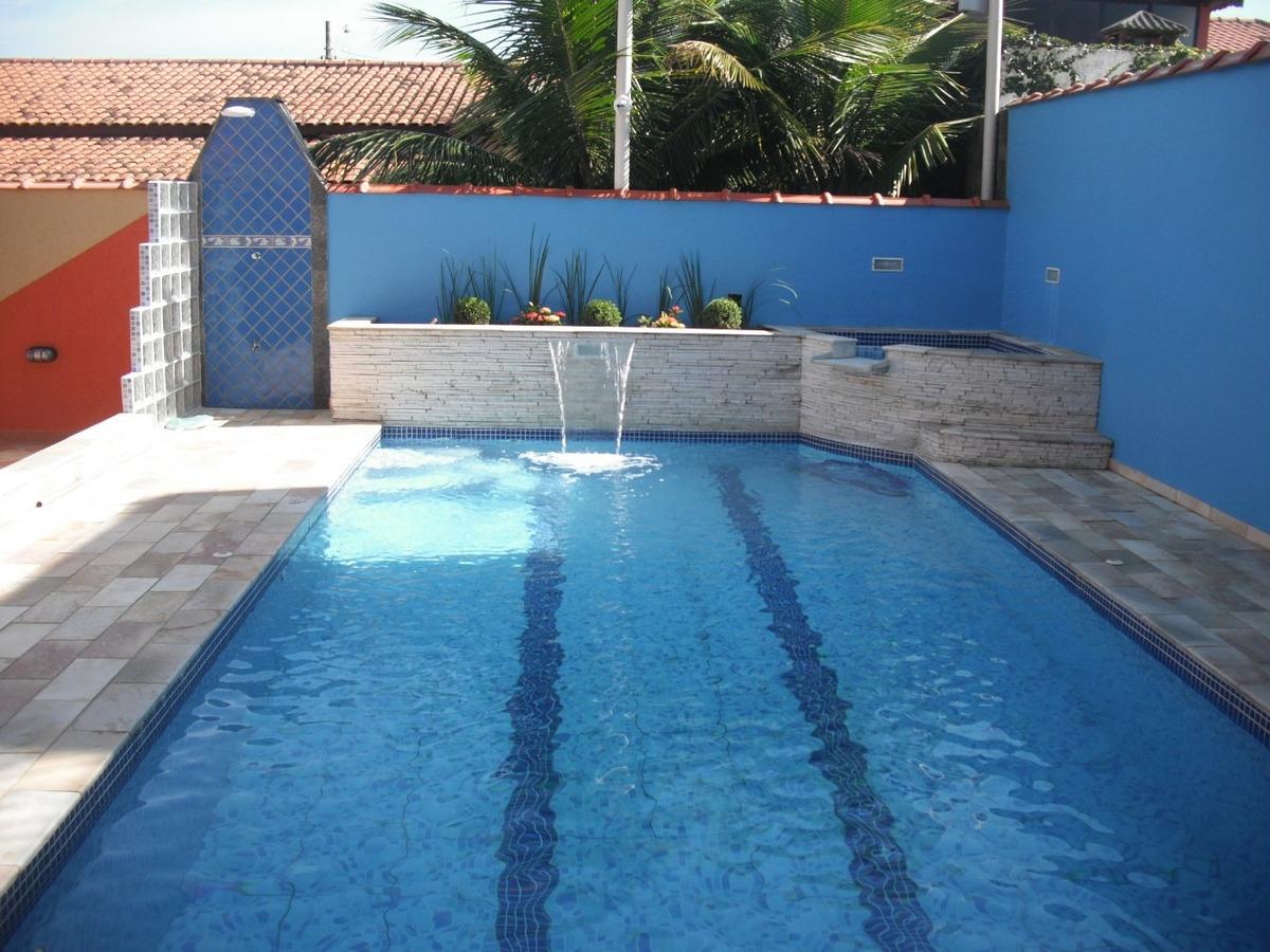linda casa com piscina, churrasqueira, vista mar em itanhaém