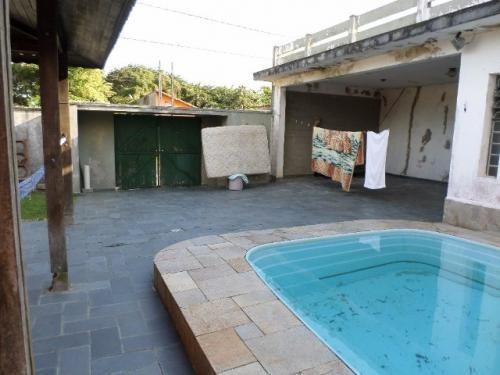 linda casa com piscina lado praia, 400m do mar, 3 quartos!