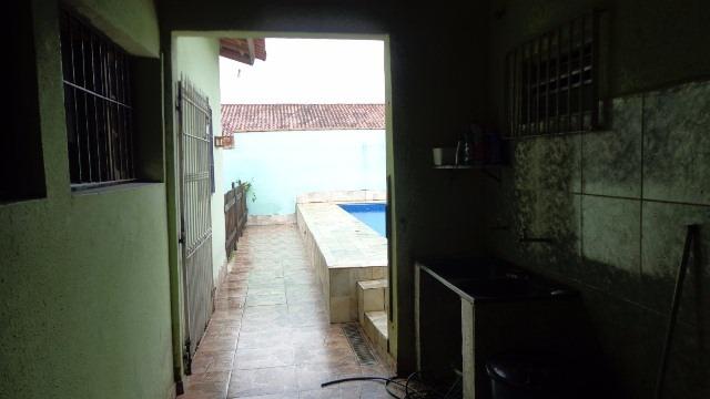 linda casa, com piscina no balneário gaivota, em itanhaém