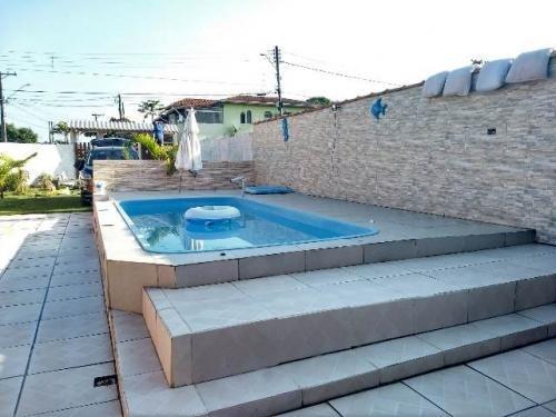 linda casa com piscina, permuta por chácara! itanhaém-sp