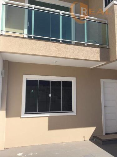 linda casa dúplex com 03 quartos em verde mares - ca0053