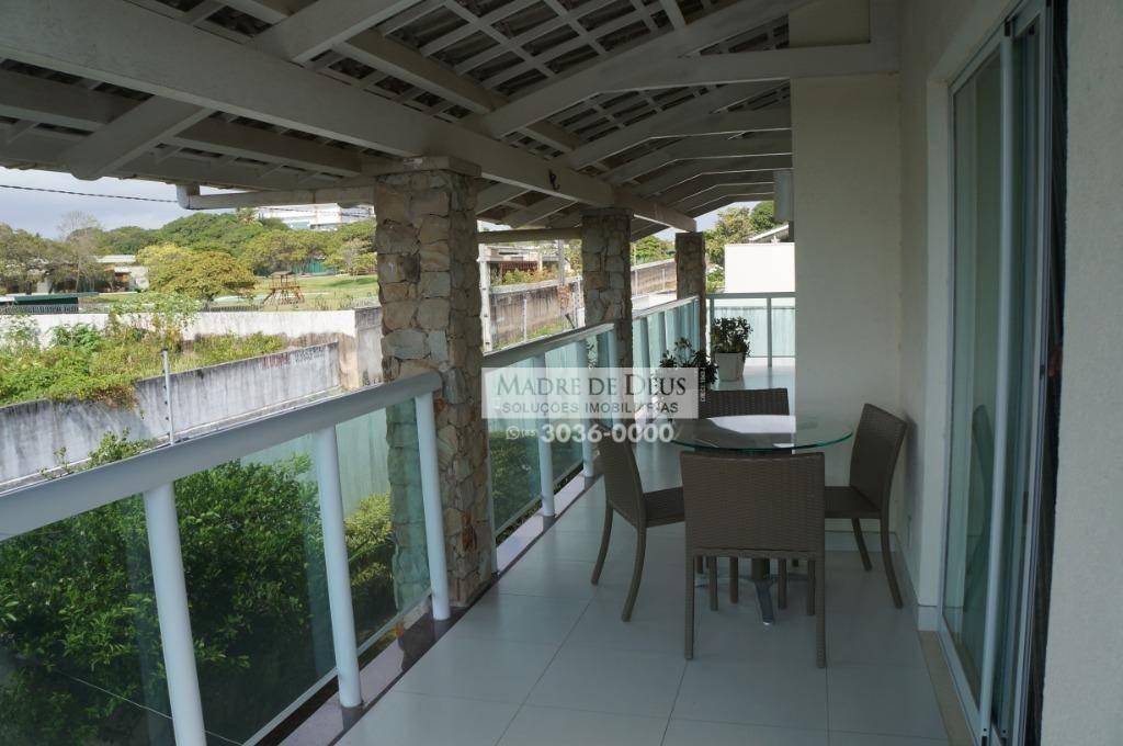 linda casa em condomínio com 5 suítes, deck, 300 m² - josé de alencar - fortaleza/ce - ca1038