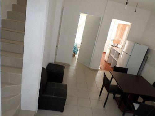 linda casa en renta semiamueblada frac. la joya cancún c2271