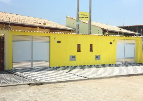linda casa nova com 2 quartos na praia, para financiar!