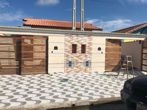linda casa nova geminada, no balneário gaivota - ref 3913