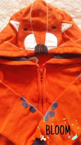 linda casaca con capucha de zorrito bebé niño 2 años