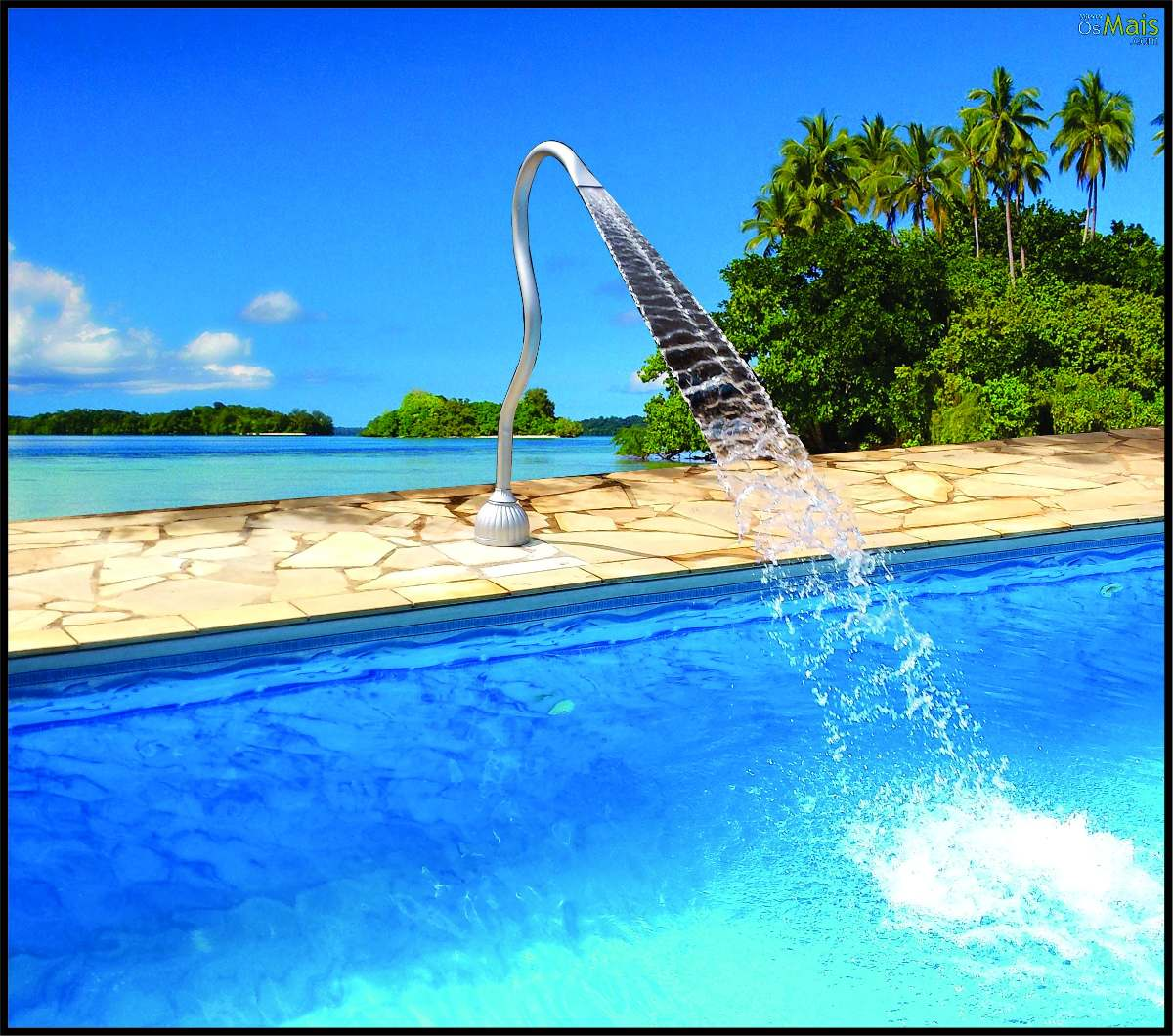 Linda cascata para piscina em pvc tubular frete gr tis r for Piscina tubular