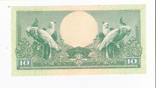 linda cédula da indonésia - 10 rupiah de 1959 fe !!!