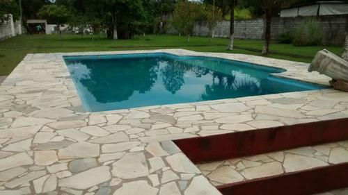 linda chácara, c/ 6 suítes, piscina, murada, docs ok, praia!