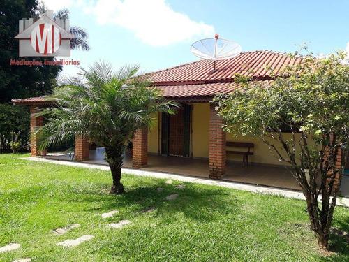 linda chácara com 03 dormitórios, piscina, campo de futebol à venda, 1300 m² por r$ 320.000 - zona rural - pinhalzinho/sp - ch0012