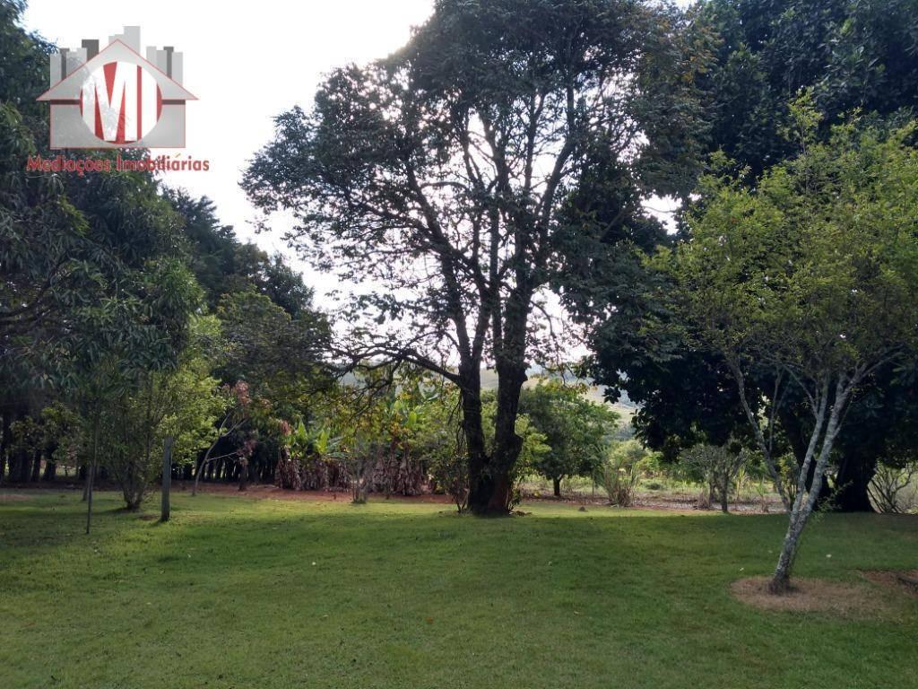 linda chácara com 03 dormitórios, terreno excelente, plano, arborizado, ótima localização à venda, 18000 m² por r$ 590.000 - rural - socorro/sp - ch0540