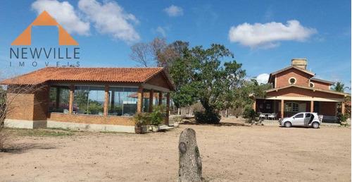linda chácara com 3 quartos à venda, 4000 m² por r$ 550.000 - alameda serrana- gravatá/pe - ch0004