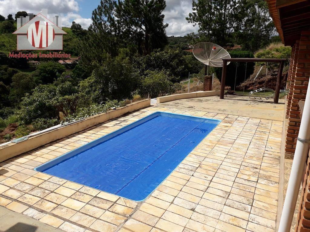 linda chácara com escritura, piscina, área gourmet, 03 dormitórios à venda, 2000 m² por r$ 320.000 em pinhalzinho/sp - ch0398