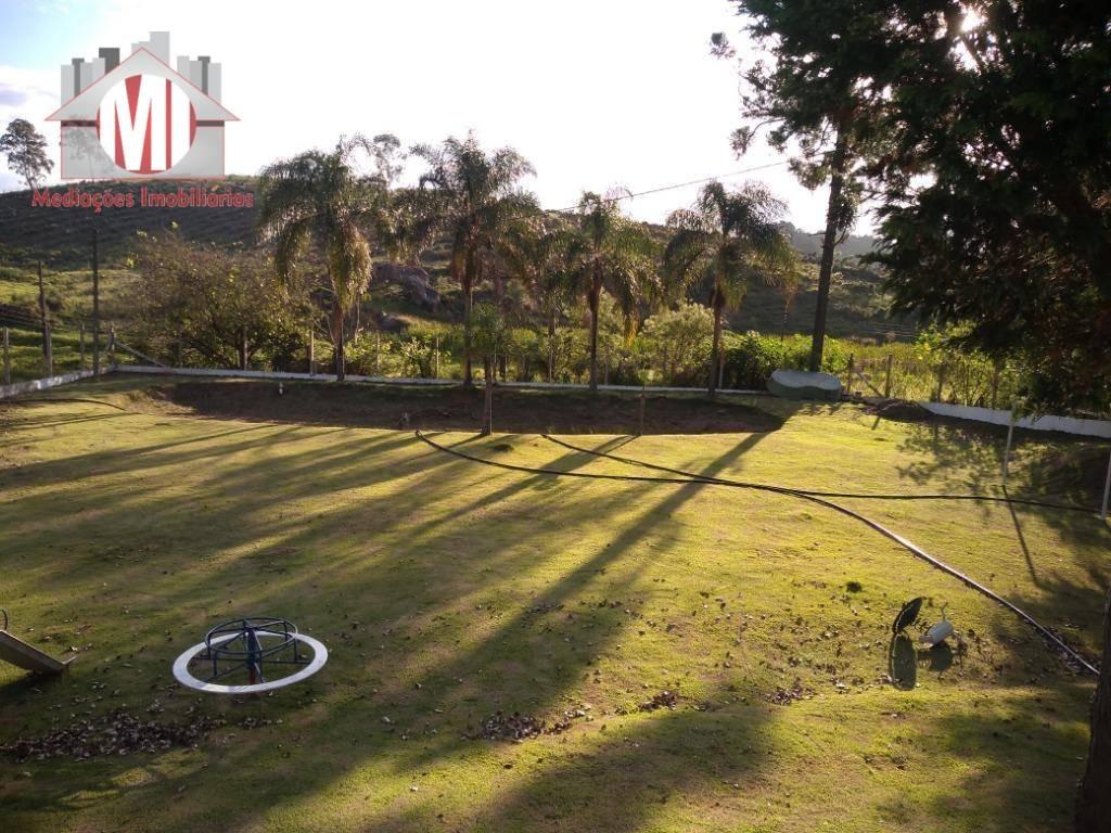 linda chácara com lago, arborizada, playground e linda vista à venda, 4500 m² por r$ 260.000 - pedra bela - pedra bela/sp - ch0473