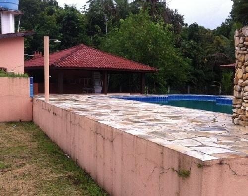 linda chácara com piscina, 6900m², escritura, troca em santo