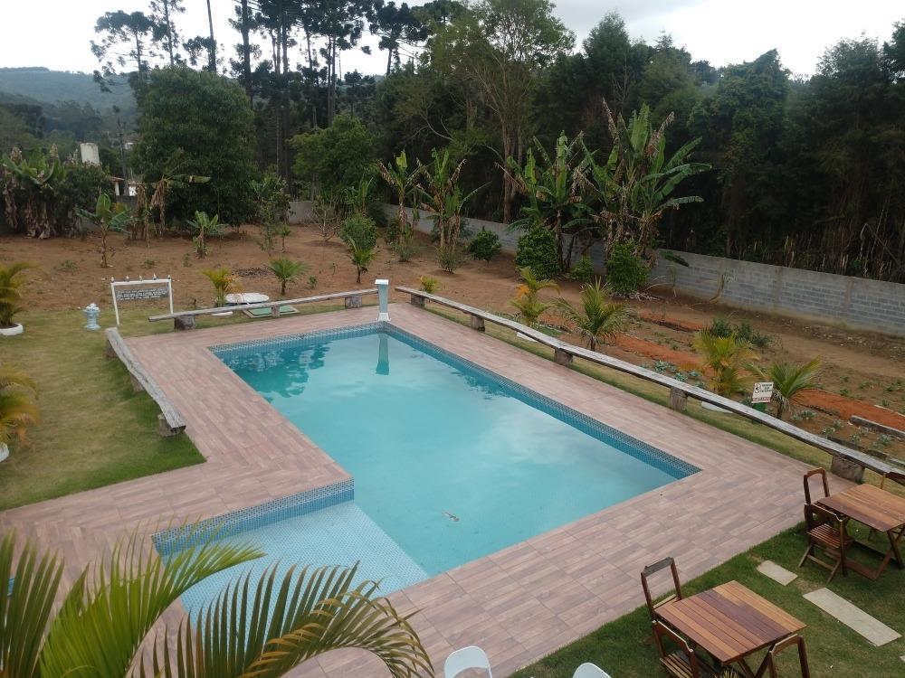 linda chácara em ibiúna sp 2.500 mts casa, piscina e campo!!