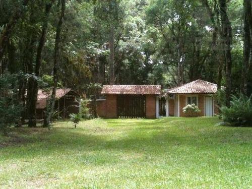 linda chácara no condomínio serra da graciosa, bairro campininha, quatro barras/pr. área 6.411m². - ch0012