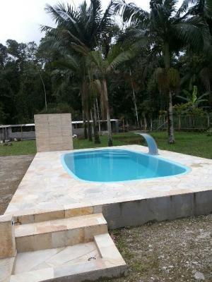 linda chácara no jardim aguapeú, itanhaém! possuí piscina!