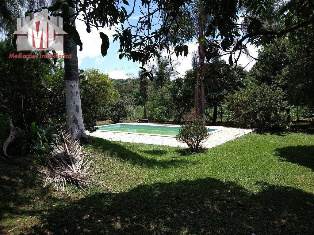 linda chácara plana com 03 dormitórios, piscina, pomar, arborizada e ótimo acesso à venda, 1500 m² por r$ 260.000 - zona rural - pinhalzinho/sp - ch0617