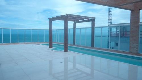 linda cobertura com 5 suítes frente para o mar de itaparica, vila velha-es. - nva858