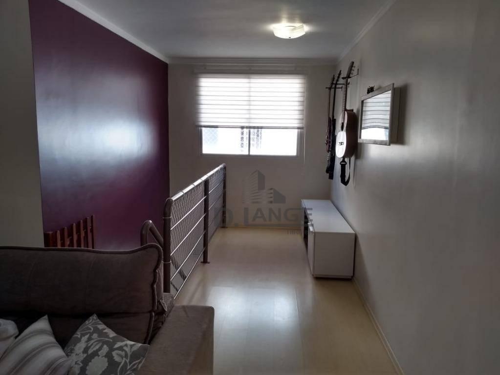 linda cobertura duplex com 3 dormitórios, 1 suíte, churrasqueira, 2 vagas de garagem. - ad0037