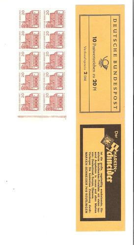 linda e rara cartela de selos da alemanha - vejam a foto !!!