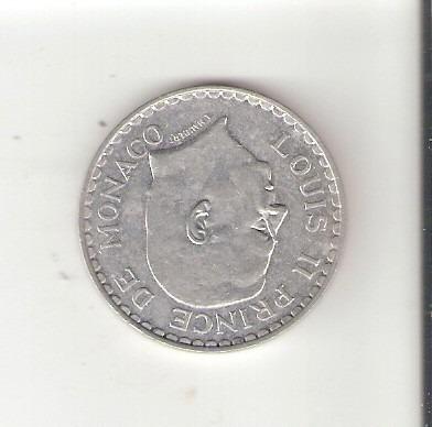 linda e rara moeda de alumínio - mônaco - 5 francs de 1945 !