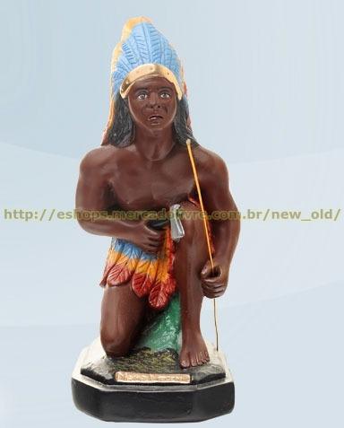 linda escultura caboclo mata virgem 40cm melhor preço ml