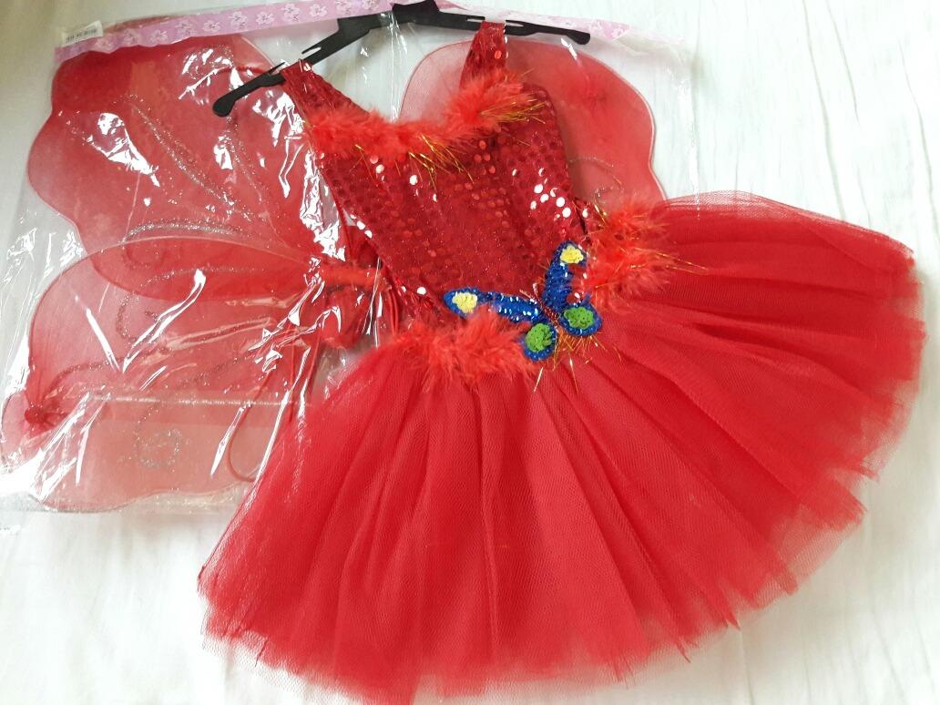 Linda Fantasia Borboletinha Newborn Asas Vestido Tiara 6 8 M - R ... da46f9236960