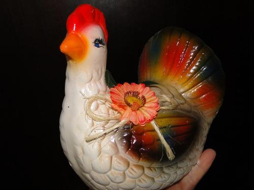 linda !!!!  galinha     de  gesso        25  x  20  cm