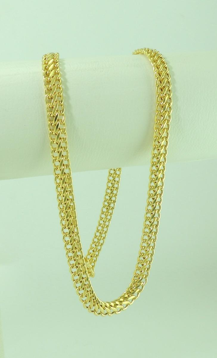 73863dd28a842 linda gargantilha corrente lacraia 45cm 6mm ouro 18k 750. Carregando zoom.