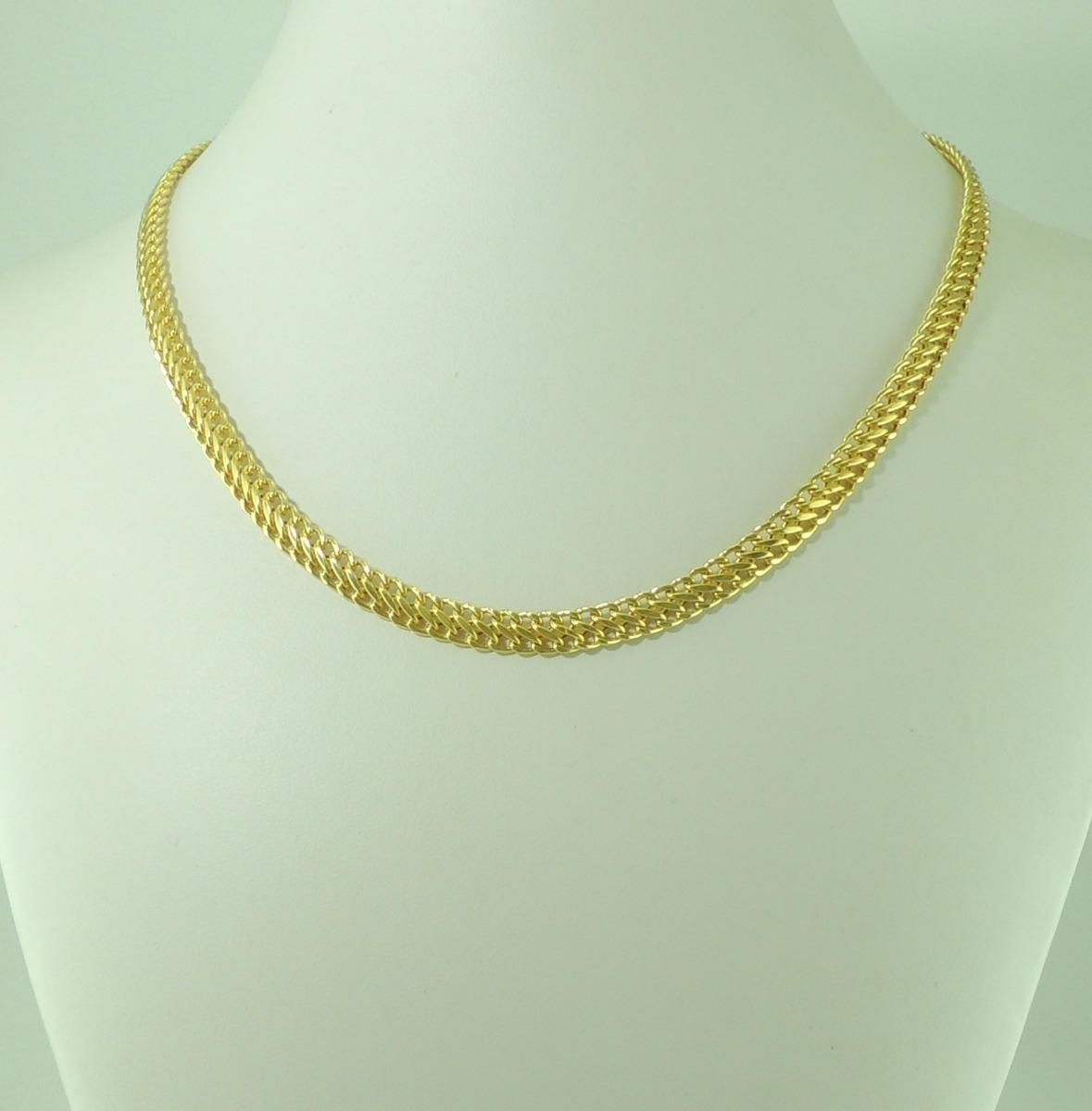 5490e5c1f4af8 linda gargantilha corrente lacraia ouro 18k 750 45cm 6mm. Carregando zoom.