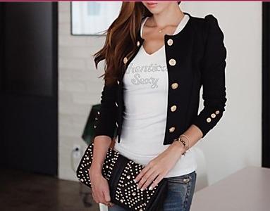 linda jaqueta/casaco preto - em pronta entrega!