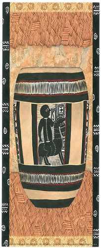linda lámina africana. nº81.