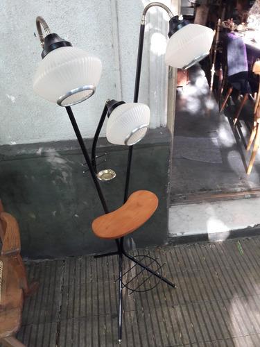 linda lámpara de pie vintage retro 3 luces restaurada. #1002