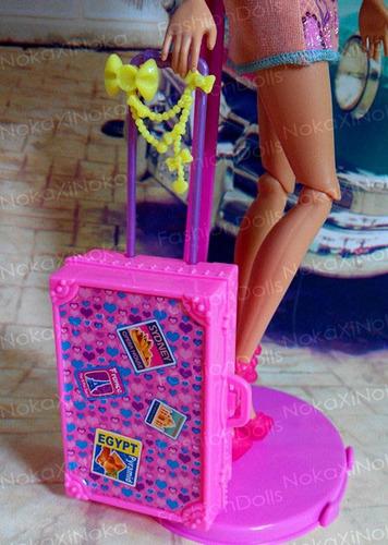 linda mala de viagem para boneca barbie * susi blythe pullip