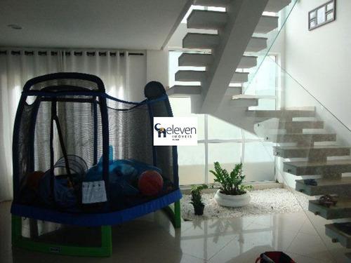 linda mansão de condomínio fechado em piatã - ca00134 - 32283344