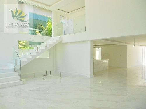 linda mansão no alphaville fortaleza com 4 suítes - ca0783
