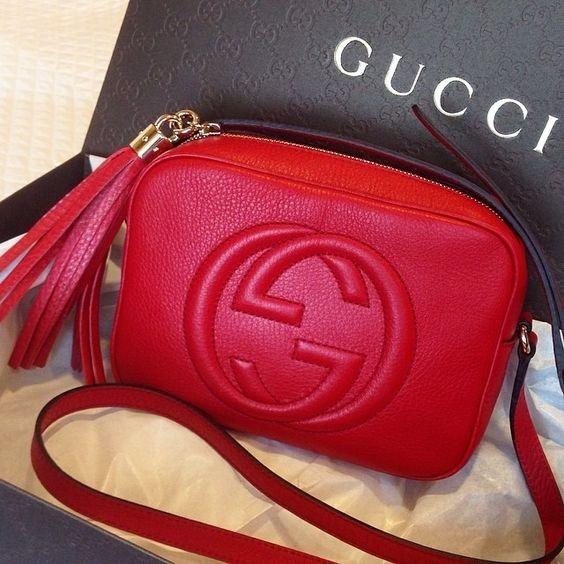 a2573016673 Linda Maravilha Bolsa Gucci Soho Disco Vermelho - R  1.195