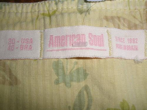 linda mini saia _ nova - griffe american soul tam 38 e 40