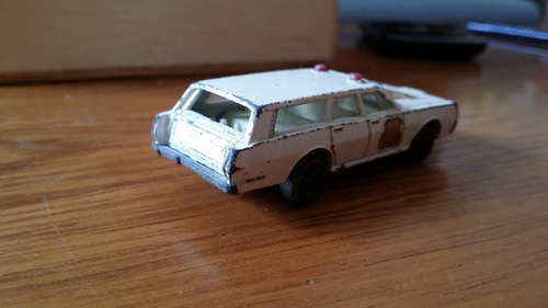 linda miniatura matchbox inglês - mercury police car 1971 !