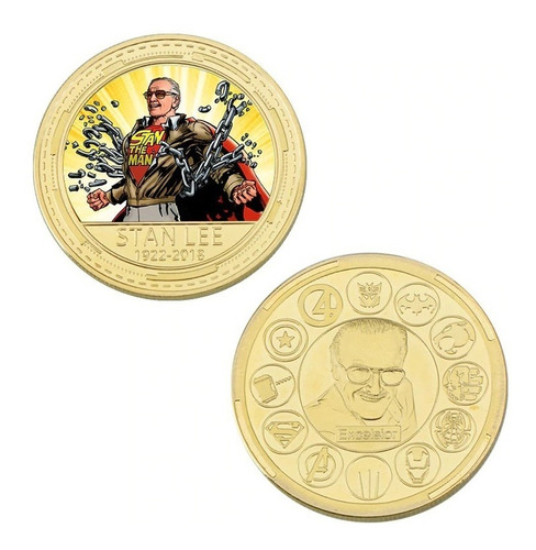 linda moeda comemorativa stan lee 1922 a 2018