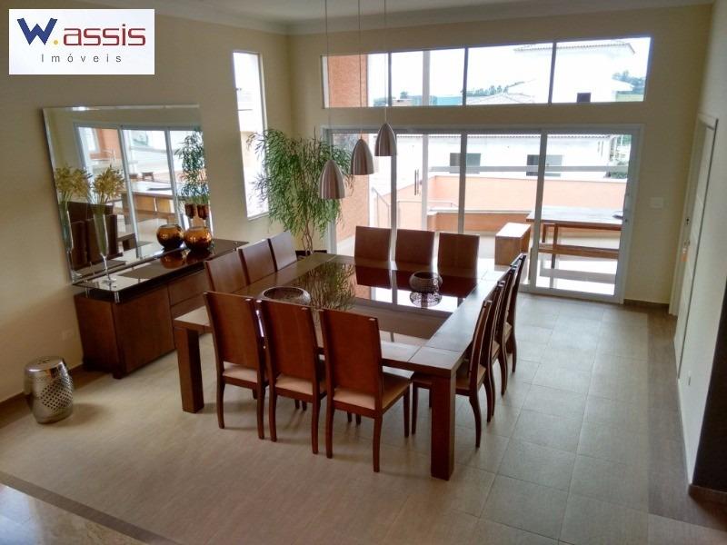 linda residência tipo sobrado a venda em jundiaí no condomínio de alto padrão reserva da serra - ca00584