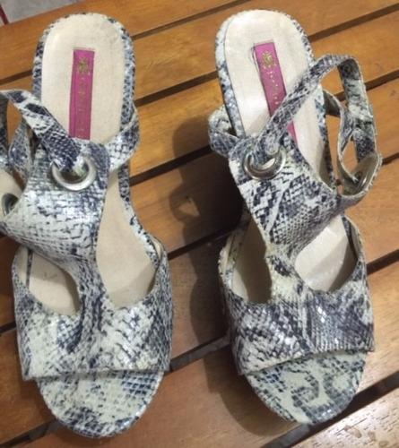 linda sandalia plataforma jorge alex couro de cobra original