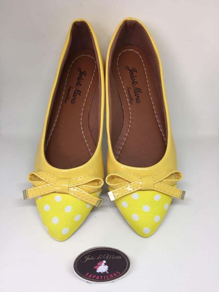 26243a0d66 linda sapatilha amarela poá - joão maria sapatilhas. Carregando zoom.