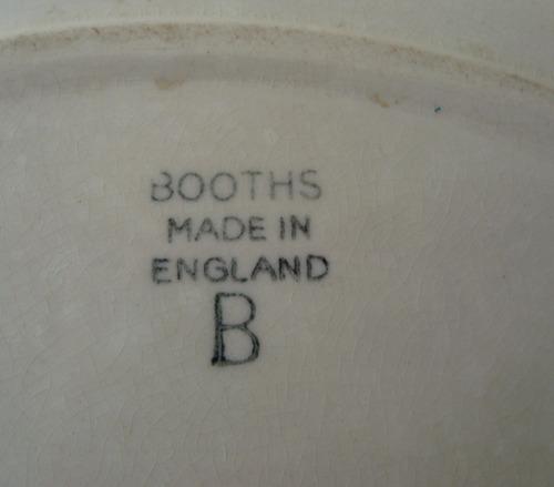 Linda Travessa Fundada Porcelana Brooths- Ingles - Anos 50 - R  63 ... 4acc66be80