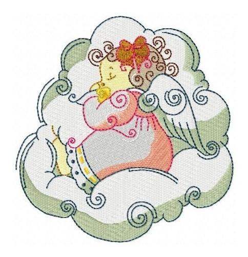 lindas anjinhas - coleção de matriz de bordado