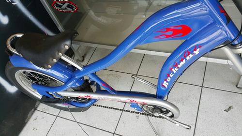 lindas bicicletas chopper rock way 3 velocidade azul brilhan